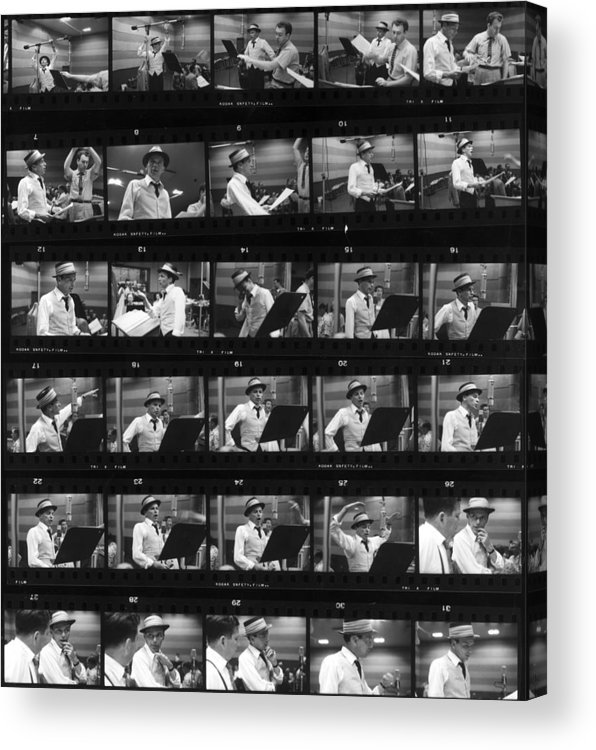 Singer Acrylic Print featuring the photograph Frames Of Frank by Hulton Archive