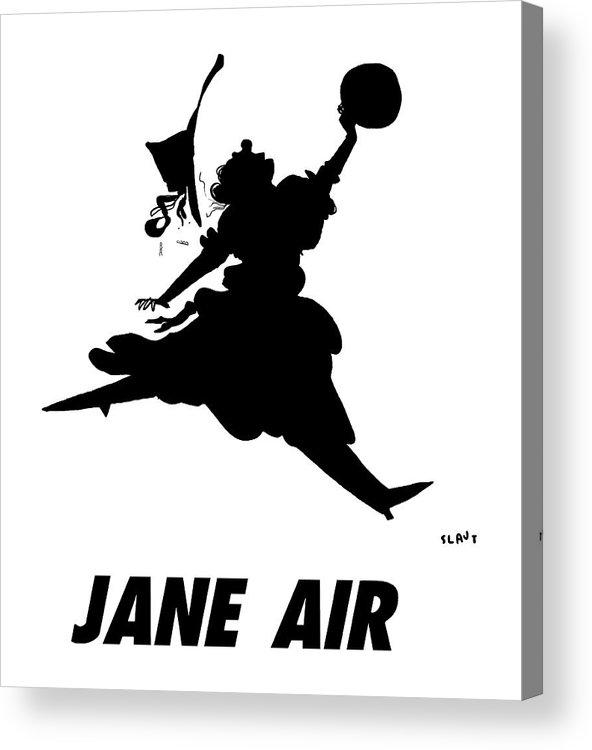 Jane Air Acrylic Print featuring the drawing Jane Air by Sara Lautman