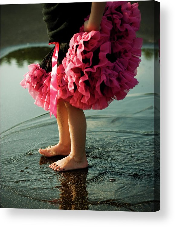 Toddler Acrylic Print featuring the photograph Little Girls Feet Splashing And Dancing by Ssj414