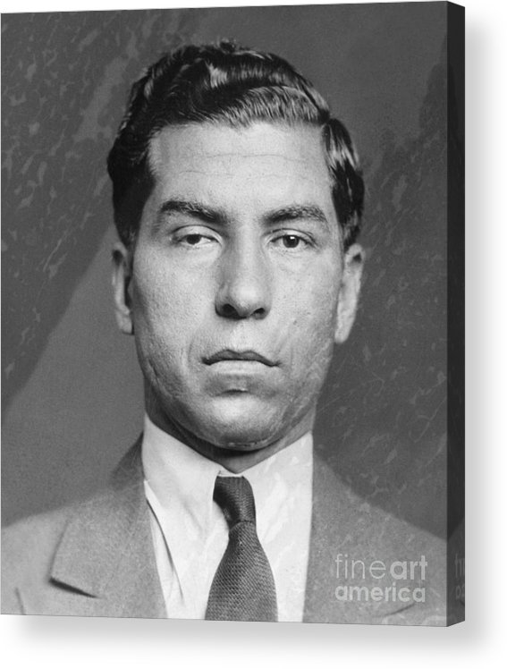 Gangster Acrylic Print featuring the photograph Lucky Luciano by Bettmann