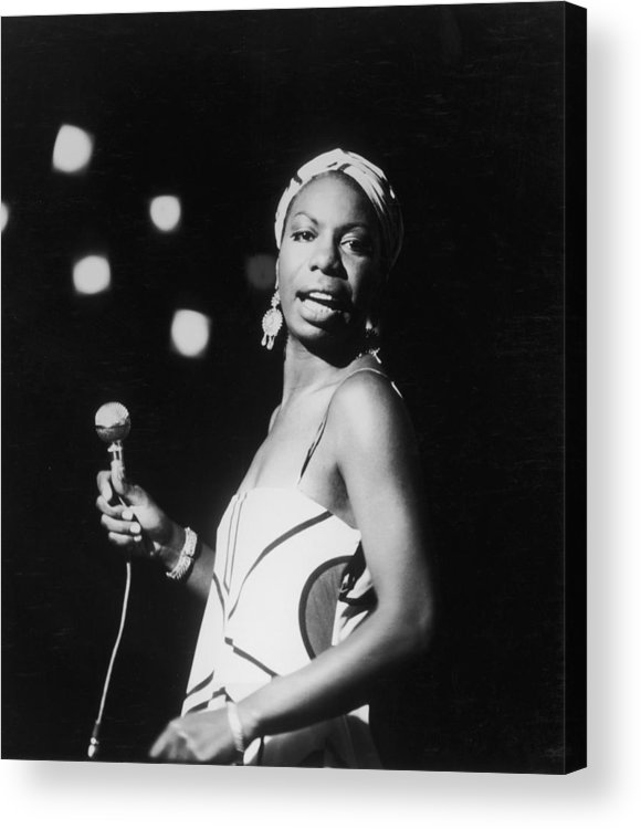 Nina Simone Acrylic Print featuring the photograph Nina In Concert by Hulton Archive