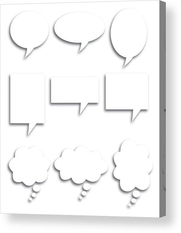 Rectangle Acrylic Print featuring the digital art Speech Bubble Shadows by Robinolimb