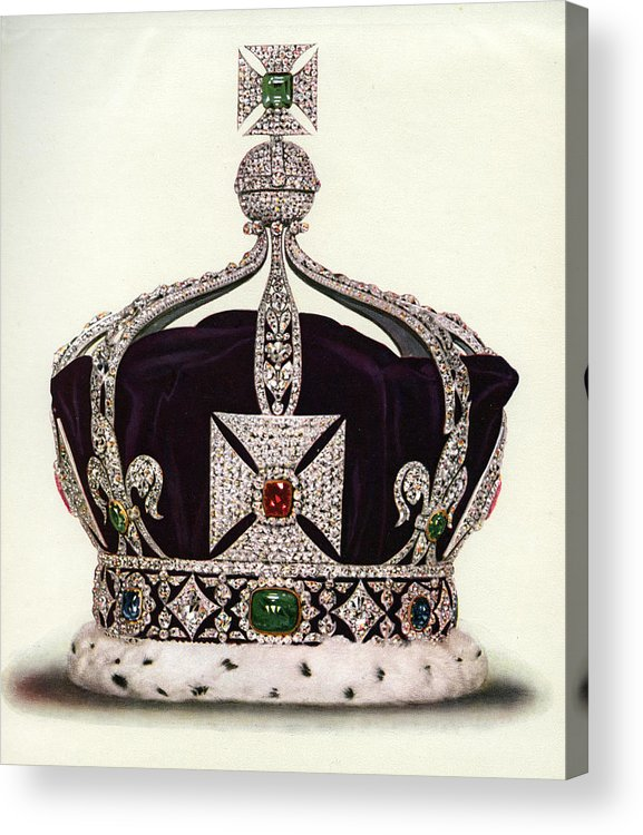 Crown Acrylic Print featuring the photograph The Imperial Crown Of India by Graphicaartis
