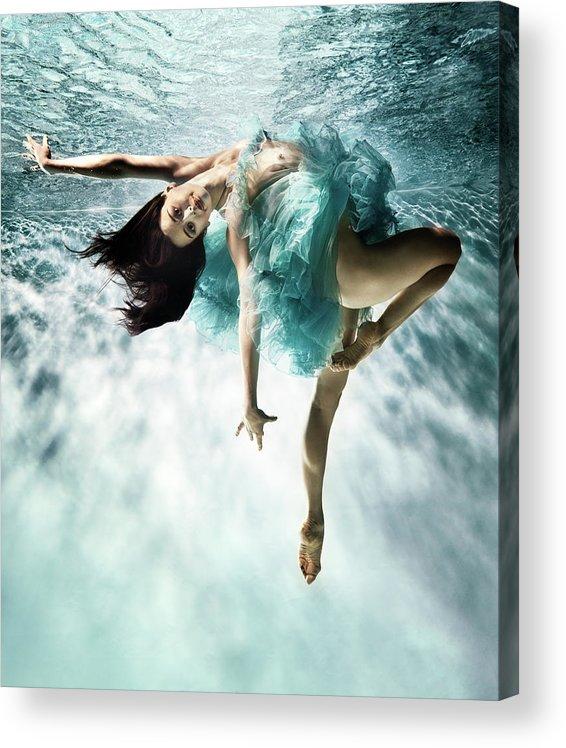 Ballet Dancer Acrylic Print featuring the photograph Underwater Ballet by Henrik Sorensen