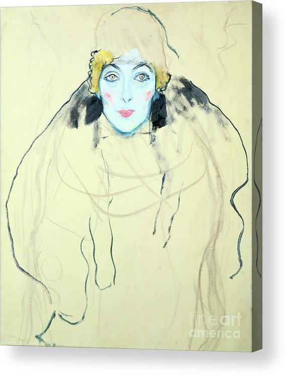 People Acrylic Print featuring the drawing Womans Head Frauenkopf, 1917. Artist by Print Collector