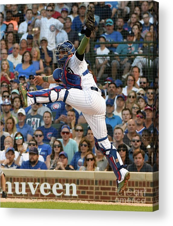 People Acrylic Print featuring the photograph Willson Contreras by David Banks