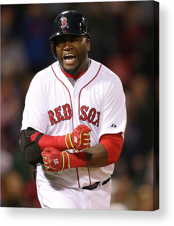 Ninth Inning Acrylic Print featuring the photograph David Ortiz by Jim Rogash