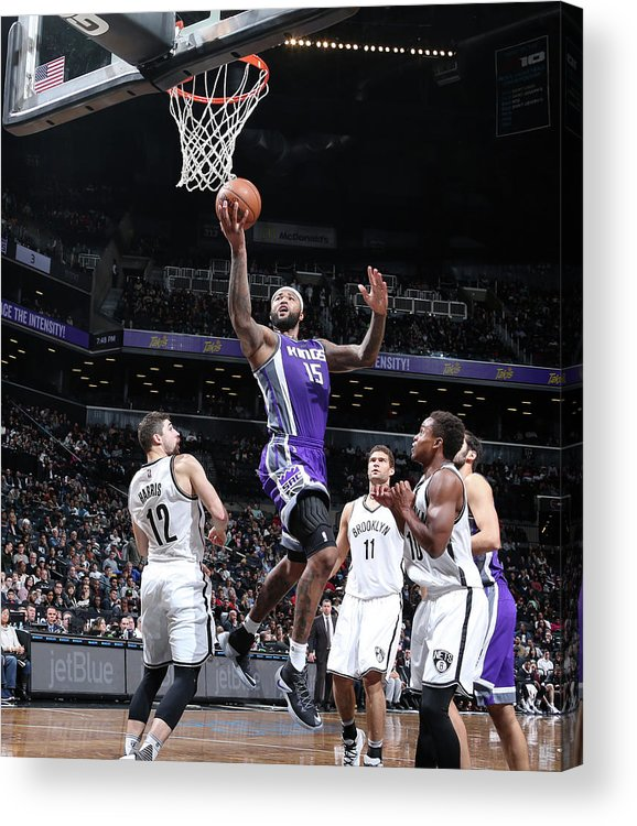 Nba Pro Basketball Acrylic Print featuring the photograph Demarcus Cousins by Nathaniel S. Butler