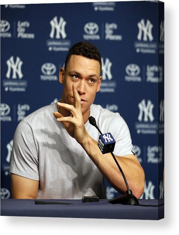 People Acrylic Print featuring the photograph Aaron Judge by Paul Bereswill