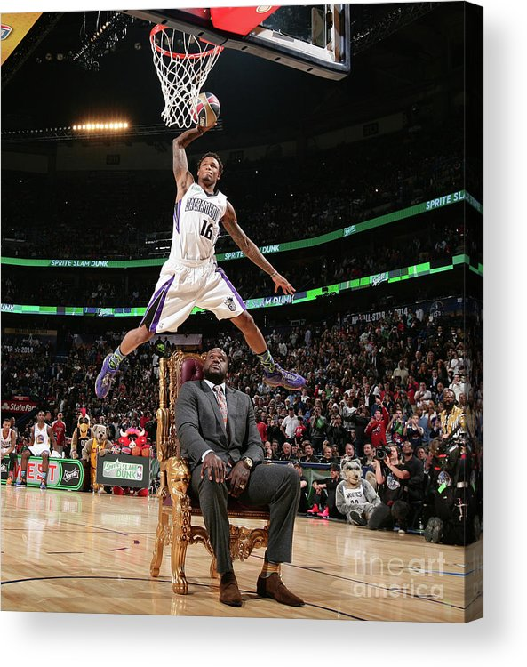 Nba Pro Basketball Acrylic Print featuring the photograph Ben Mclemore by Nathaniel S. Butler