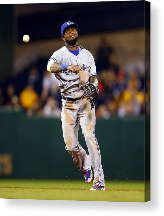 American League Baseball Acrylic Print featuring the photograph Jose Reyes by Matt Sullivan