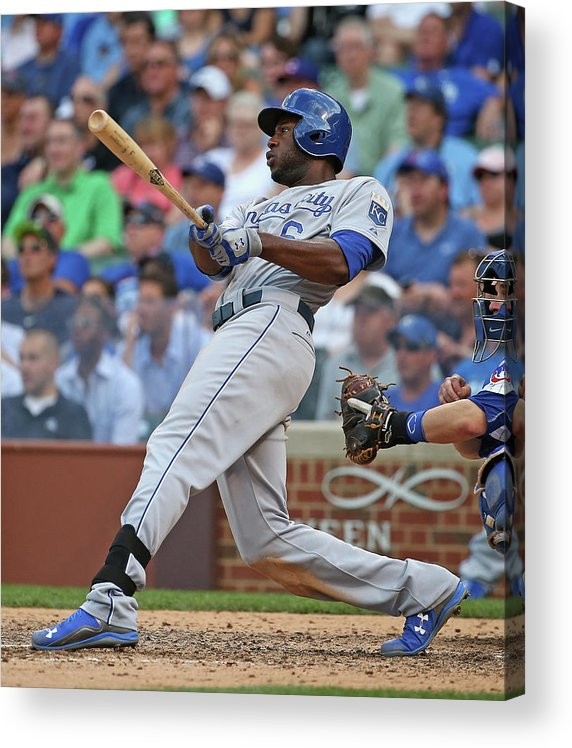 People Acrylic Print featuring the photograph Lorenzo Cain by Jonathan Daniel