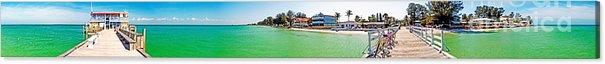 Anna Maria Island Acrylic Print featuring the photograph Rod And Reel Pier 360 Degrees by Rolf Bertram