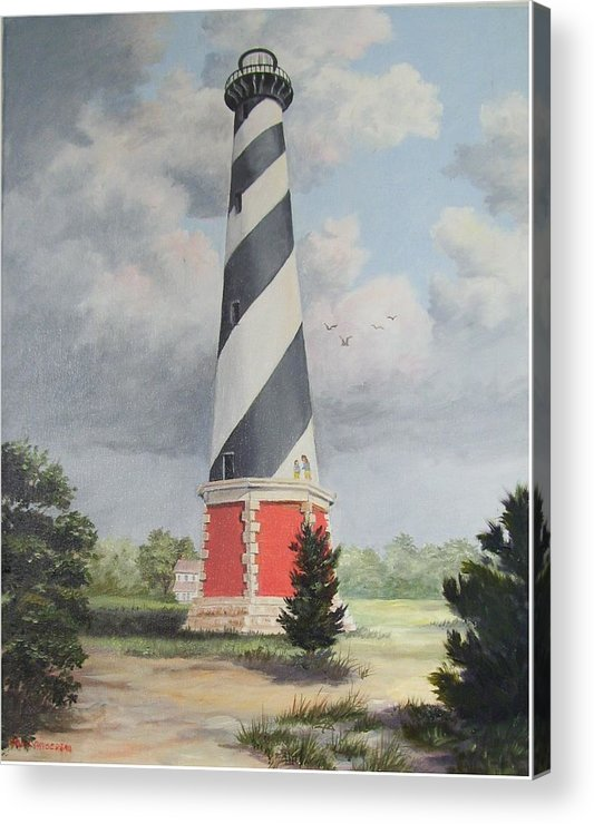 Sunrise Clouds Acrylic Print featuring the painting Cape Hatteris Sunrise by Wanda Dansereau