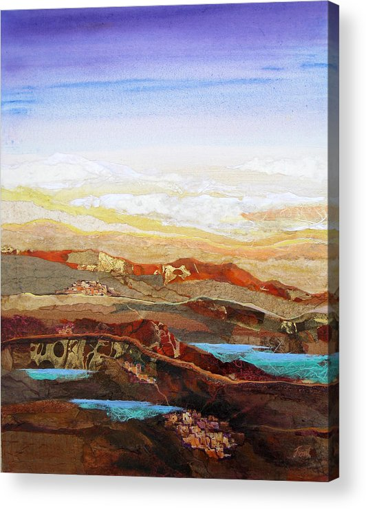 Mixed Media Acrylic Print featuring the painting Arizona Reflections Number Two by Don Trout