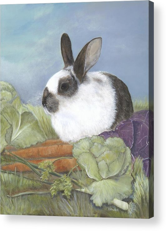 Rabbit Acrylic Print featuring the painting Benjamin by Kimberly Hodge