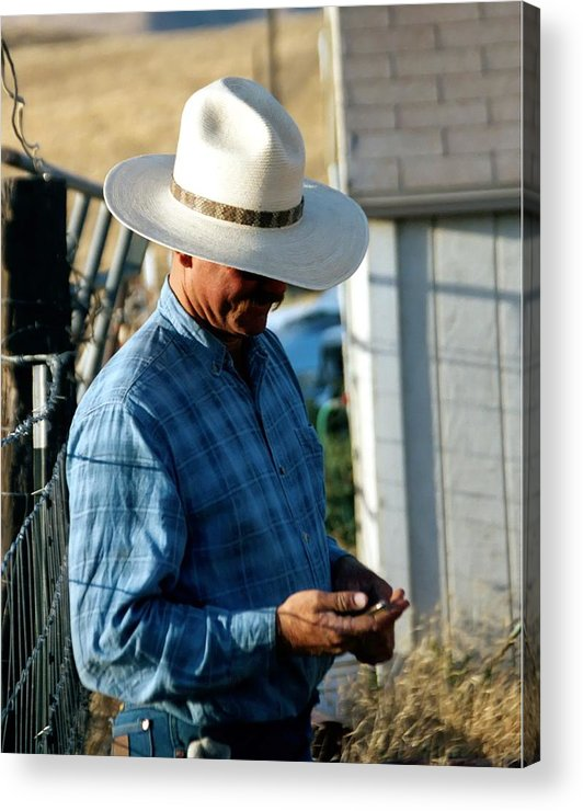 Rodeo Acrylic Print featuring the photograph Cowboy.. by Carol Miller