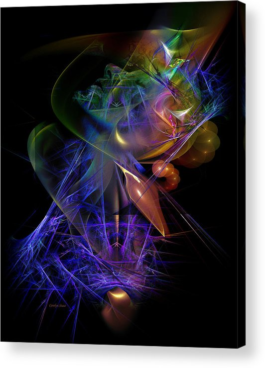 Digital Acrylic Print featuring the digital art Drenched In Color by Carolyn Staut