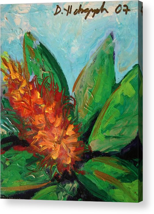 Exotic Acrylic Print featuring the painting Flora Exotica B by Dodd Holsapple