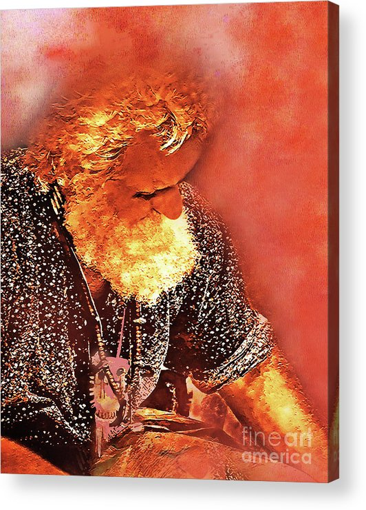 Acrylic Print featuring the mixed media Fur Trader by Terril Heilman