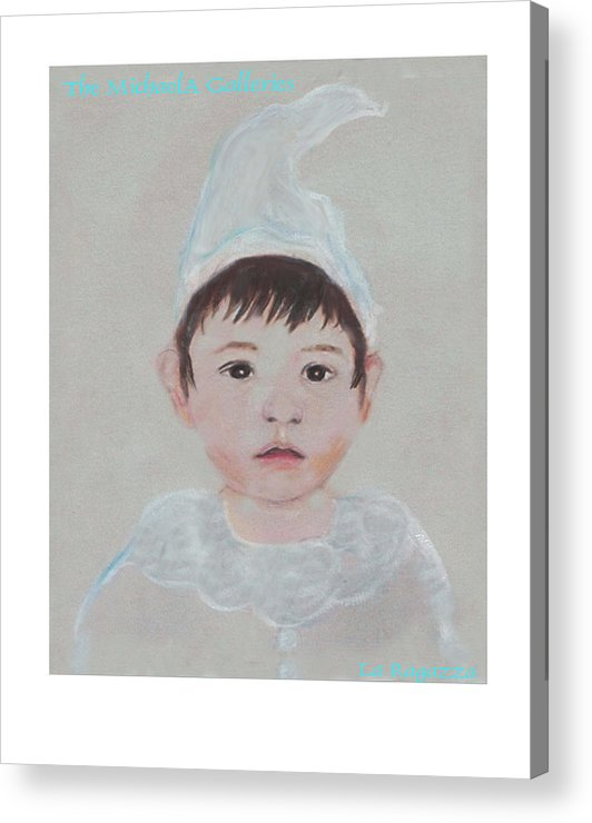 Child Acrylic Print featuring the painting La Ragazza by Michela Akers