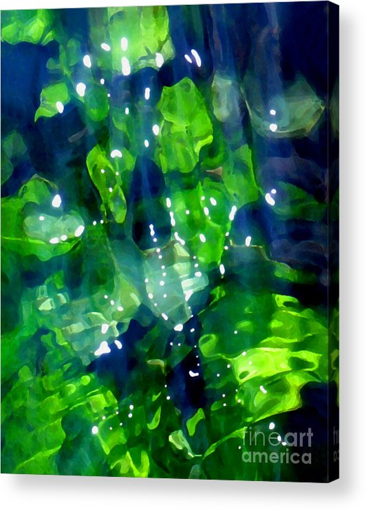 Abstract Acrylic Print featuring the photograph Liquid Leaves by Terril Heilman