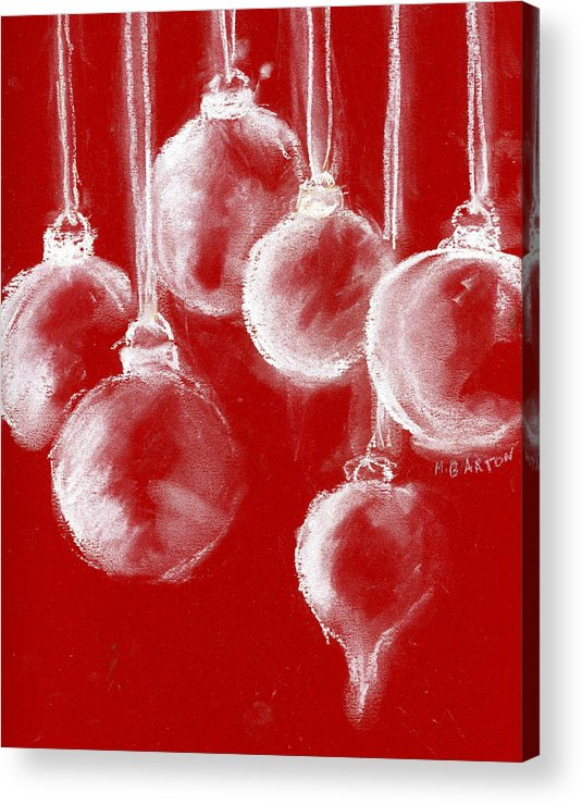 Ornament Acrylic Print featuring the painting Ornaments by Marilyn Barton