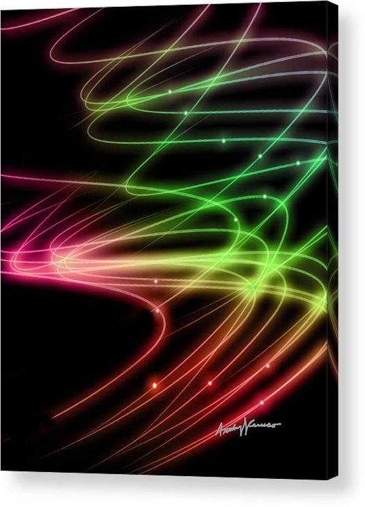 Curves Acrylic Print featuring the digital art Rainbow Curves by Anthony Caruso