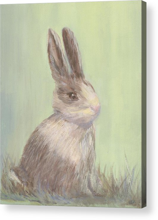 Rabbit Acrylic Print featuring the painting Sweet Bun by Kimberly Hodge