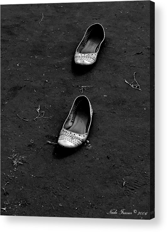 Shoes Acrylic Print featuring the photograph Walk A Mile by Nada Frazier