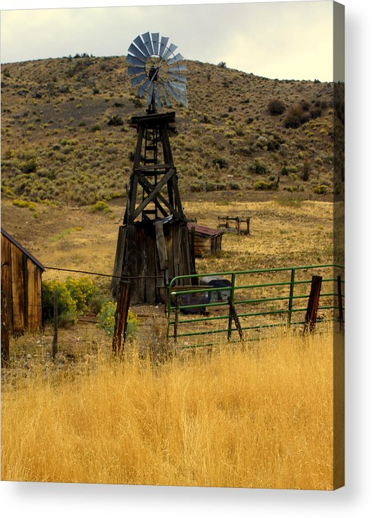 Windmill Acrylic Print featuring the photograph Windmill 1 by Marty Koch