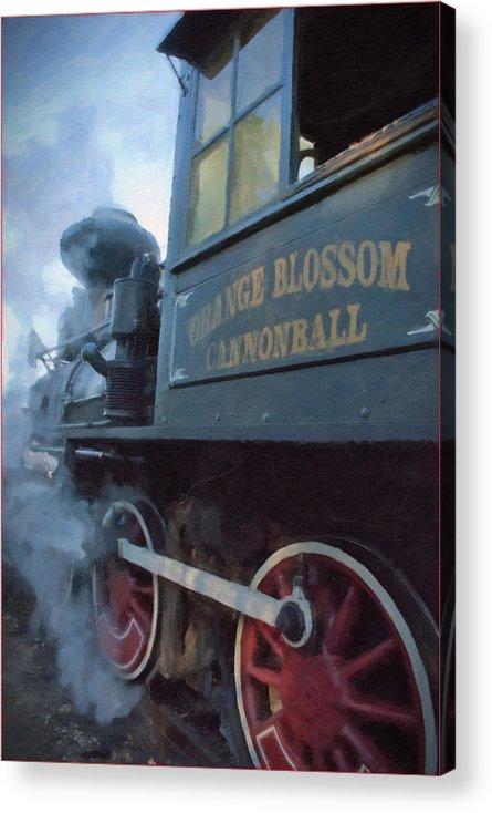 Train Acrylic Print featuring the painting All Aboard by Wynn Davis-Shanks