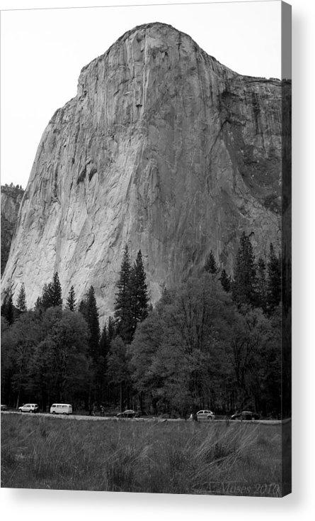 El Capitan Acrylic Print featuring the photograph El Cap by Abbott Moses