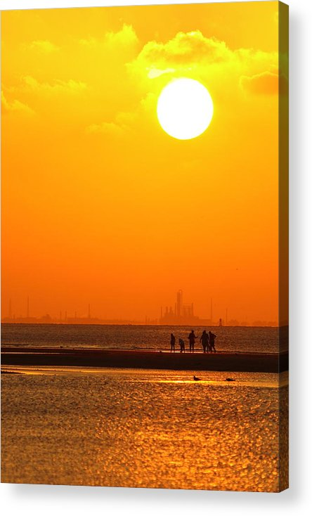 Texas City Acrylic Print featuring the photograph Texas City Sunset 2am-12561 by Andrew McInnes