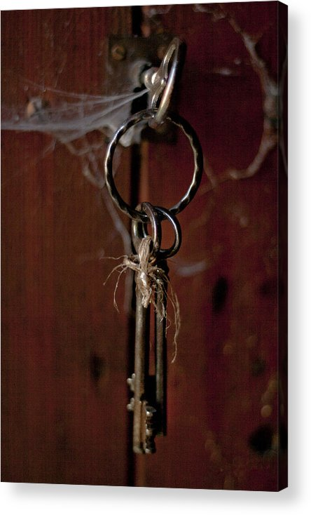 Abstract Acrylic Print featuring the photograph Three Keys by Georgia Fowler