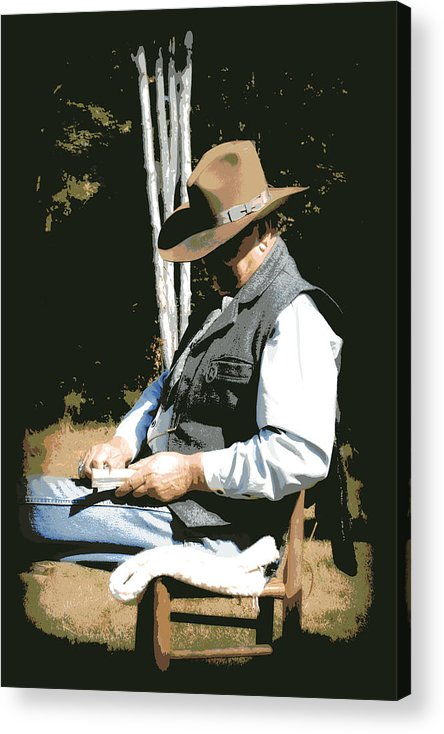 Western Acrylic Print featuring the digital art Down Time by Tina Meador