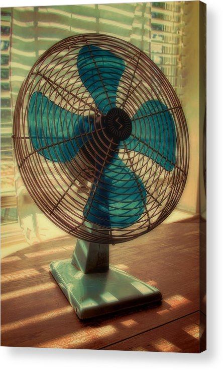 Retro Acrylic Print featuring the photograph Retro Fan by Tony Grider