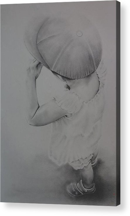 Children Acrylic Print featuring the drawing This Way by John C