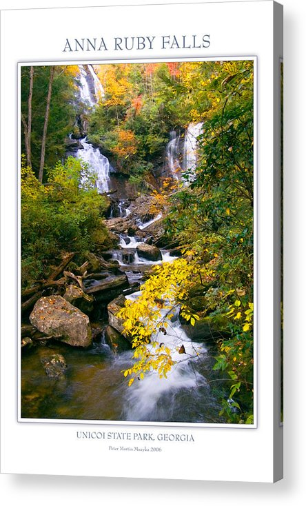 Landscape Acrylic Print featuring the photograph Anna Ruby Falls by Peter Muzyka