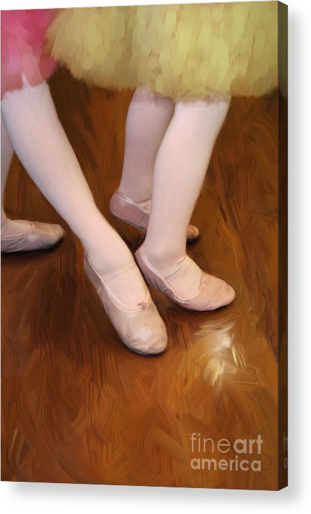 Young Acrylic Print featuring the photograph Ballet Girls by Jeannie Burleson
