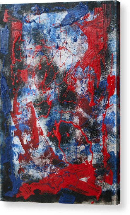 Abstract Acrylic Print featuring the painting Chaos by Mordecai Colodner