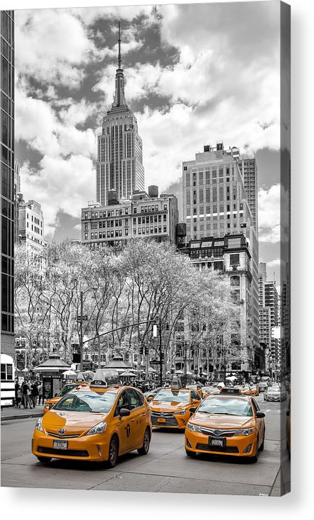 Empire State Building Acrylic Print featuring the photograph City Of Cabs by Az Jackson