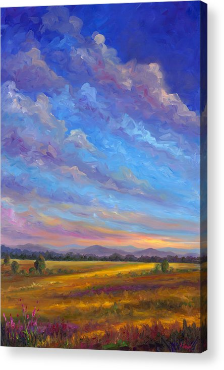 Field Acrylic Print featuring the painting Field Of Flowers by Jeff Pittman