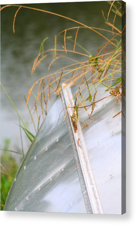 Canoe Acrylic Print featuring the photograph Lone Canoe by Greg Sharpe