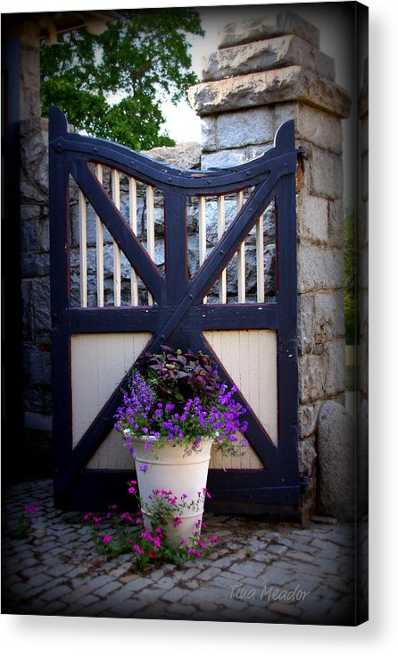 Maymont Acrylic Print featuring the photograph Maymont Gate by Tina Meador