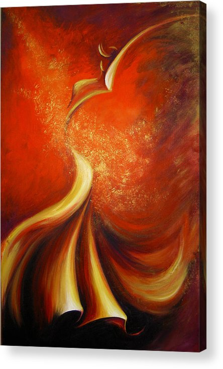Figure Study Acrylic Print featuring the painting Mystery Dance by Dina Dargo