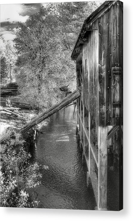 Old Mill Acrylic Print featuring the photograph Old Grist Mill by Joann Vitali