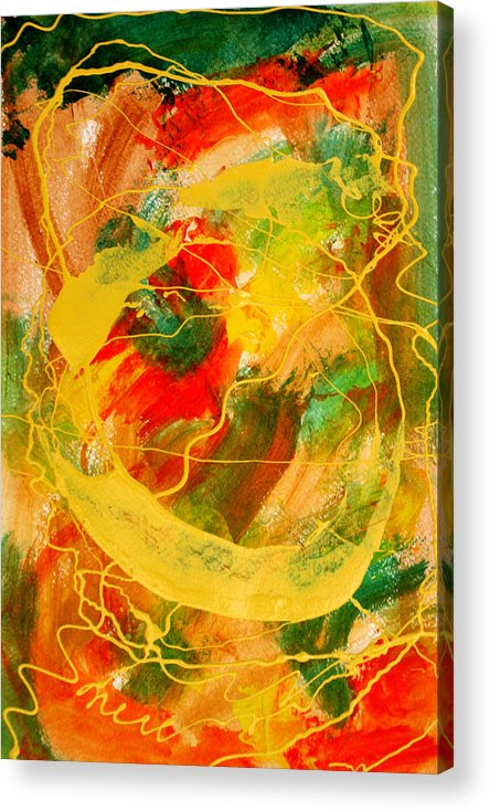 Abstract Acrylic Print featuring the painting Punkin Patch by Mordecai Colodner