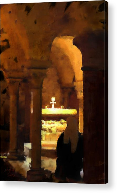 Prayer Acrylic Print featuring the painting Quiet Prayers by Stephen Lucas