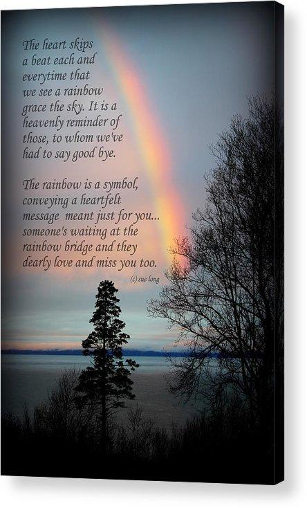 Rainbow Bridge Acrylic Print featuring the photograph Rainbow Heart by Sue Long